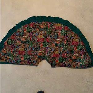 """Tree skirt - 45"""" diameter - handmade NWOT"""